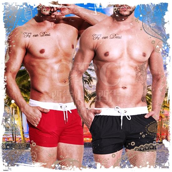 圖片 DESMIIT  夏威夷人速乾2分沙灘休閒泳褲 激凸性感 型男狂潮 SW0021