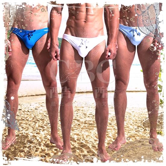 圖片 DESMIIT  漾光炫色護襠低腰三角泳褲 低腰 猛男 SW0026