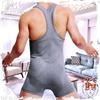 圖片 SUPERBODY  勝利者大V領超彈純棉健力連身背心 男背心 運動 SP0032