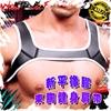 圖片 WOWWOLF新平橡膠束胸健身肩帶※黑鑲白滾邊 性感爆肌 猛男必備 MT0090