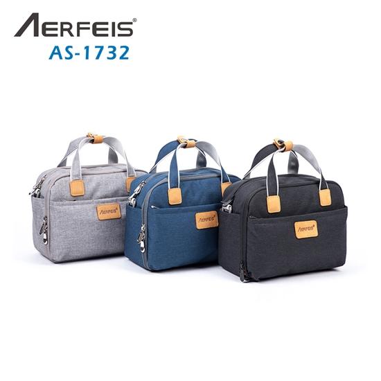 圖片 Aerfeis 阿爾飛斯 AS-1732 帆布手提側背相機包
