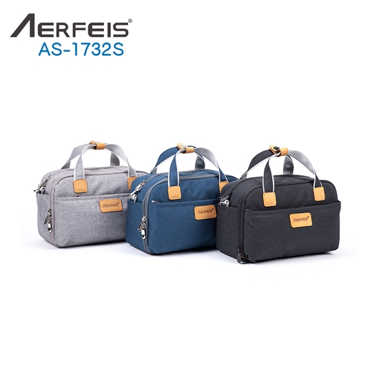 圖片 AERFEIS阿爾飛斯 AS-1732S帆布手提側背相機包-小