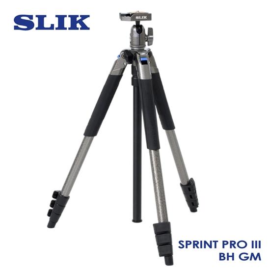 圖片 日本 SLIK Sprint Pro III BH GM 附 SBH-100DQ 球型雲台 鐵灰