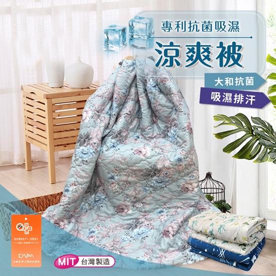 圖片 台灣製造 專利抗菌吸濕涼爽被/空調被/四季被/冷氣毯/花漾(B0091-C)