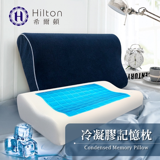 圖片 Hilton 希爾頓 愛琴海系列。酷涼冷凝人體工學記憶枕/人體工學/記憶棉 枕頭(B0799)