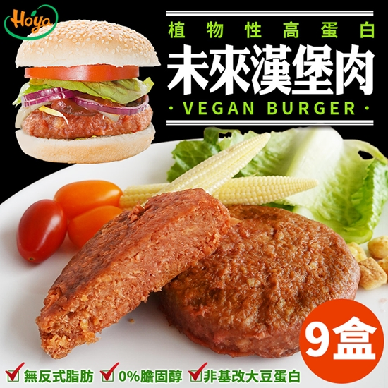 圖片 【hoya】100%植物性蛋白未來漢堡肉(2片/盒)x9盒