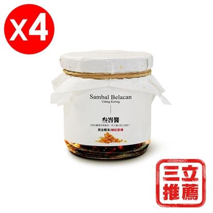東南亞萬用叁峇醬 (4罐/組)(蝦米口味) -電