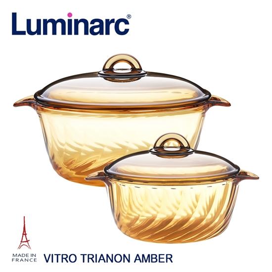 圖片 【Luminarc 樂美雅】Trianon 微晶透明鍋具組(2.5L+3.8L)