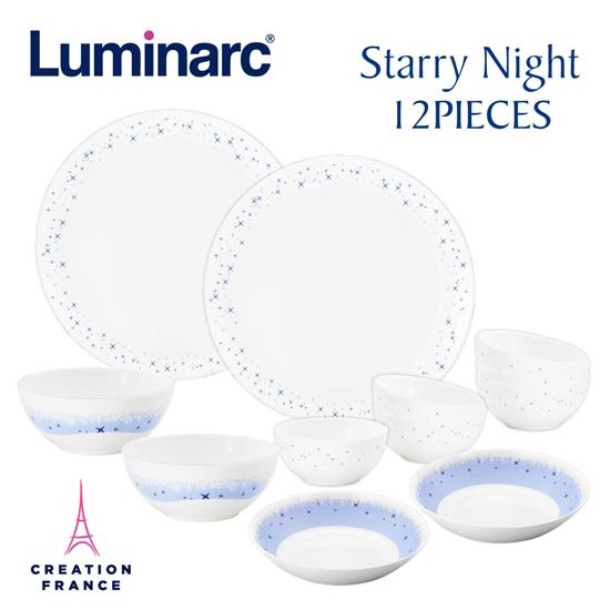 圖片 【Luminarc 樂美雅】璀璨星空12件式餐具組(ARC-1202-SN)