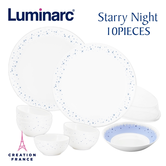 圖片 【Luminarc 樂美雅】璀璨星空10件式餐具組(ARC-1002-SN)