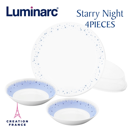圖片 【Luminarc 樂美雅】璀璨星空4件式餐具組(ARC-404-SN)