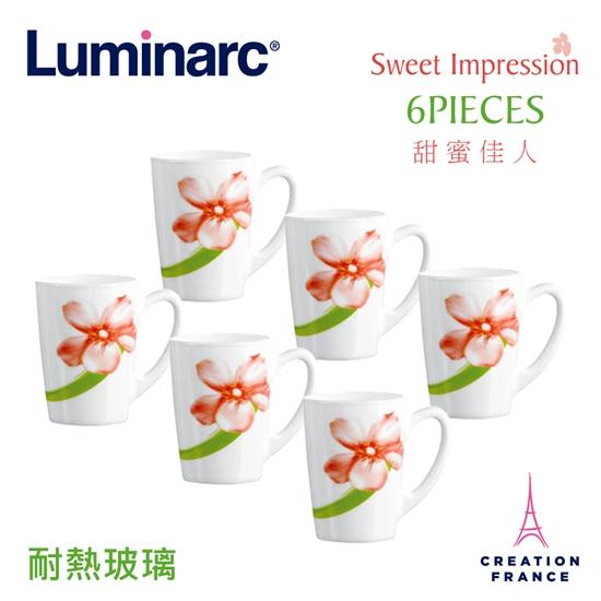 圖片 【Luminarc 樂美雅】甜蜜佳人6入馬克杯組(ARC-614-SWT)