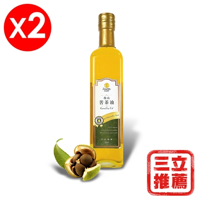 【梅山】金牌冷壓第一道苦茶油2入組-電