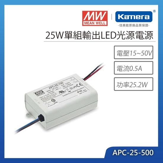 圖片 明緯 25W單組輸出LED光源電源(APC-25-500)