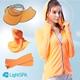美肌防曬全配5件組(連帽外套+遮陽帽+大帽沿+袖套+口罩)-美