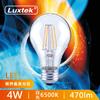 圖片 5入量販包【LUXTEK】4W  白光 E27 透明球泡 LED燈絲燈泡 取代 螺旋燈泡