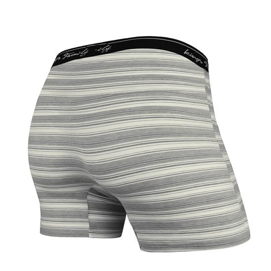 圖片 台灣製造 男用透氣開口內褲 灰條 貼身四角褲 前開檔鈕扣設計 (3入)