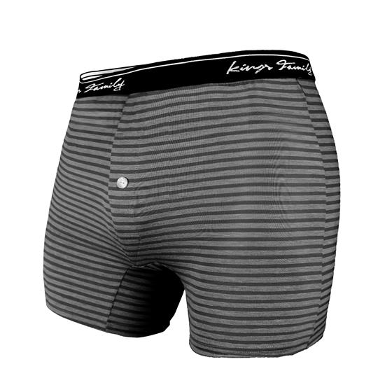 圖片 台灣製造 男用透氣開口內褲 黑灰 貼身四角褲 前開檔鈕扣設計 (3入)