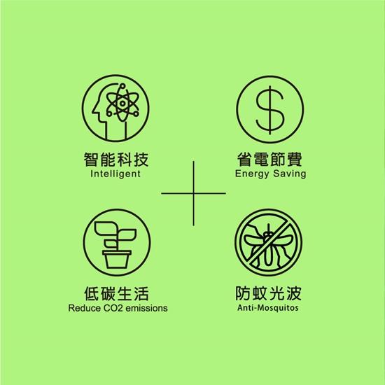 圖片 【TOYAMA特亞馬】LED光控自動防蚊燈泡7W 琥珀色(黃綠光)彎管插頭型 防蚊 驅蚊