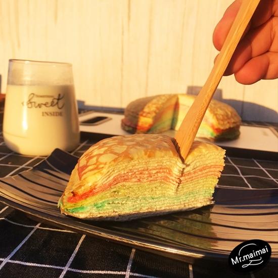 圖片 【麥易購】夢幻彩虹千層蛋糕