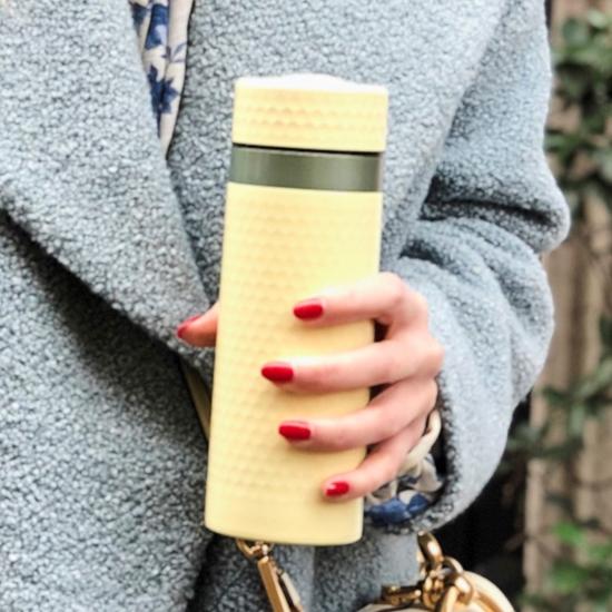 圖片 乾唐軒活瓷 | 金石保溫杯 / 檸檬黃+鎏金+水晶 330ml