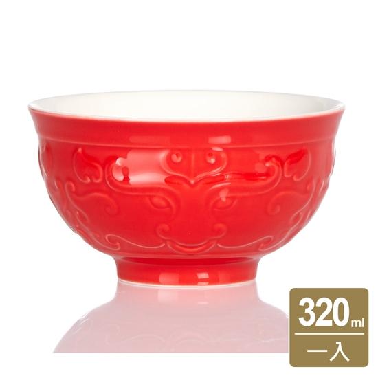 圖片 乾唐軒活瓷 | 牛勢飯碗一入 / 中國紅 320ml