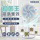 HERAN禾聯 14吋 奈米銀/光觸媒 雙效抑菌DC風扇 HDF-14SH71B (藍葉片)-美