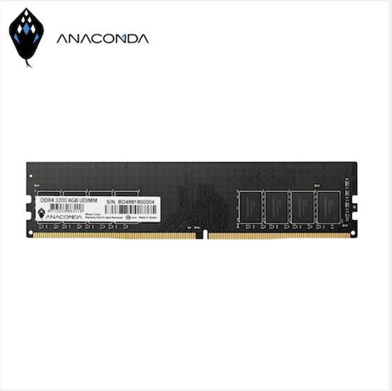 圖片 ANACOMDA巨蟒 DDR4 3200 16GB 桌上型記憶體UDIMM(黑)