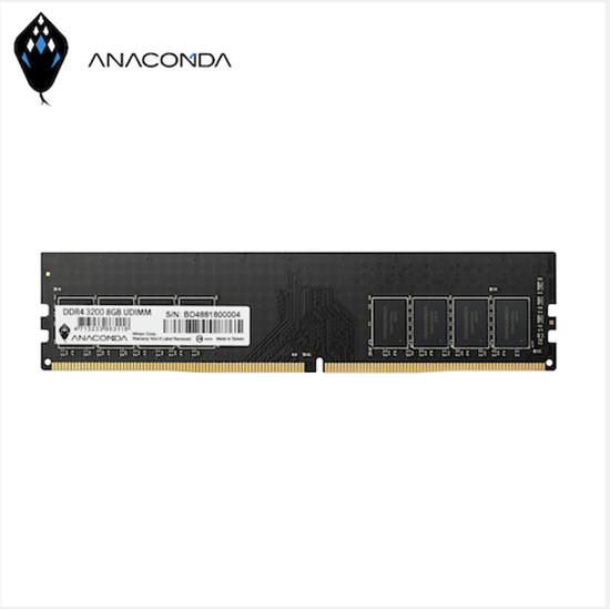 圖片 ANACOMDA巨蟒 DDR4 3200 8GB 桌上型記憶體UDIMM(黑)