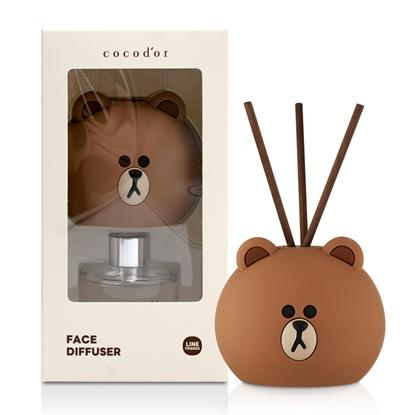 【限定款】cocodor-BROWN & FRIENDS造型擴香瓶50ml-熊大-榛果拿鐵