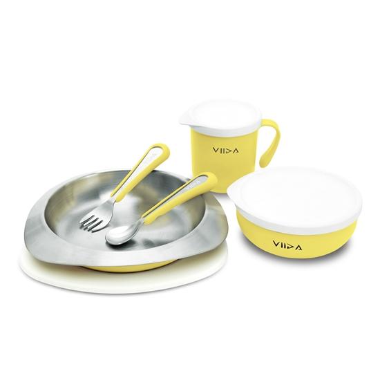 圖片 【VIIDA】Soufflé 抗菌不鏽鋼餐具組 +贈黃金盾抗菌清潔噴劑隨身瓶