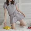 圖片 【KISSDIAMOND】芭比木耳邊休閒居家套裝(寬鬆/涼感/舒適/KDA-4513/現貨)