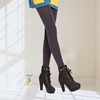 圖片 【KISSDIAMOND】時尚拉絨修身顯瘦高彈力打底9分褲(舒適/百搭/KDP043)